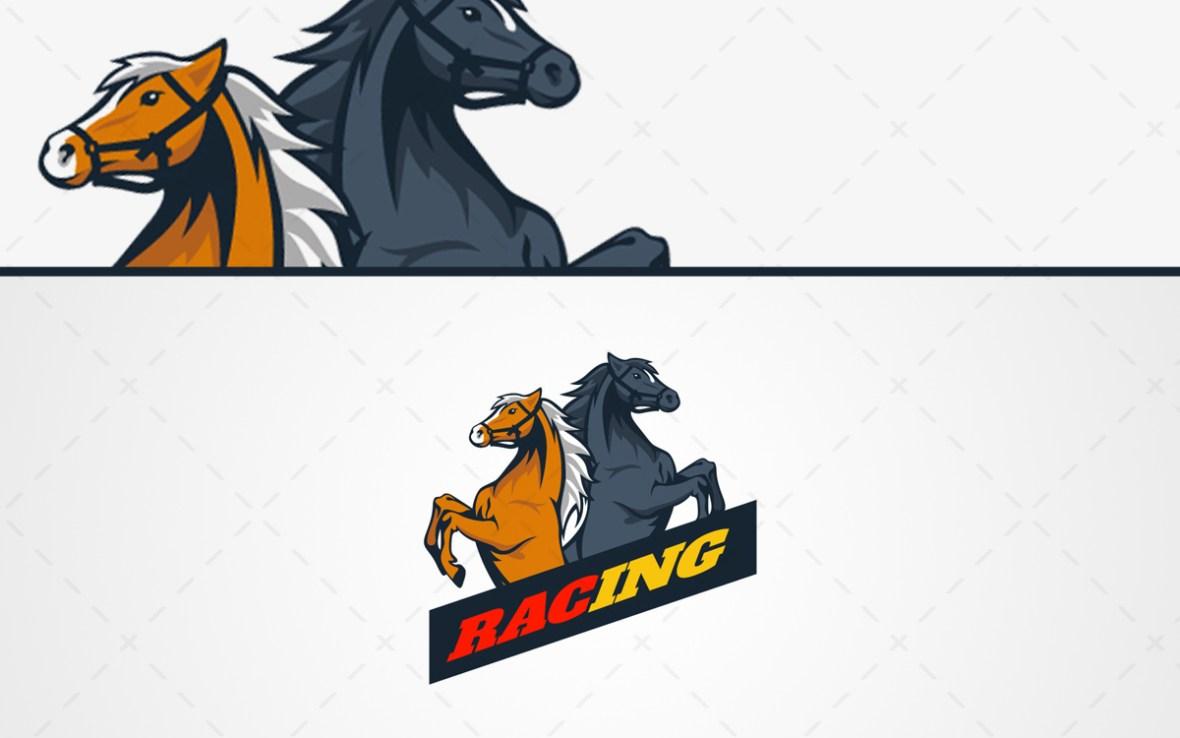 Horse mascot logo