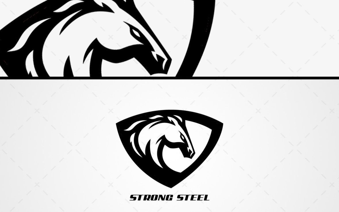 Stallion Mascot Logo For Sale