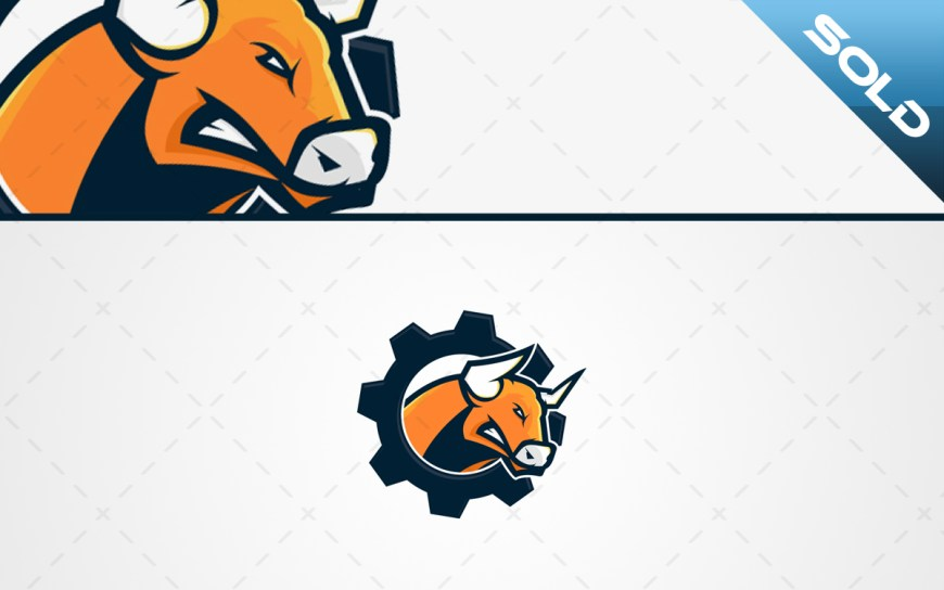 bull mascot logo for sale