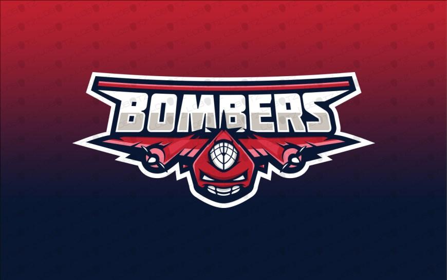 bomber fighter jet mascot logo
