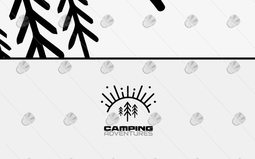 camping logo for sale