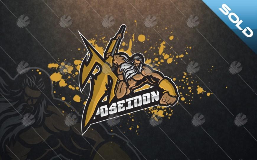 Poseidonmascot logo for sale