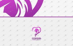 premade cowgirl logo for sale