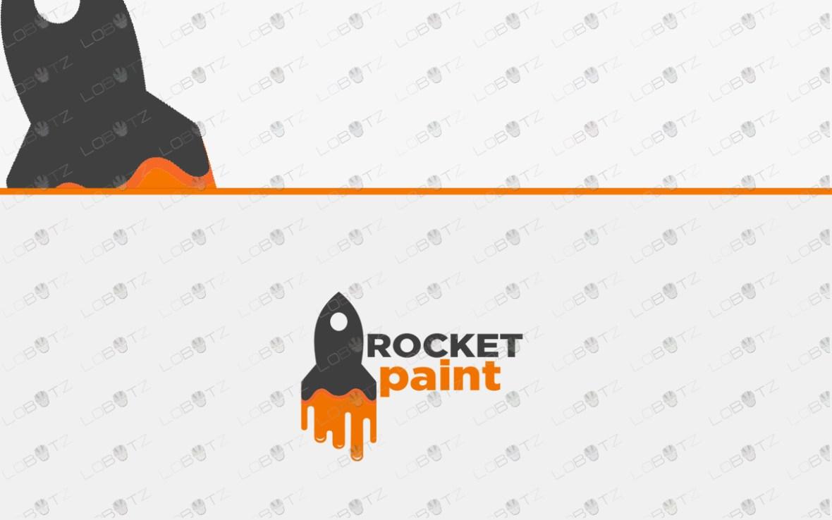 premade paint rocket logo for sale