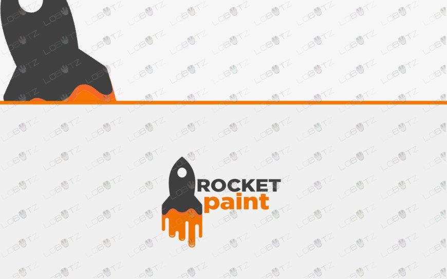 premade paint rocket logo for sale