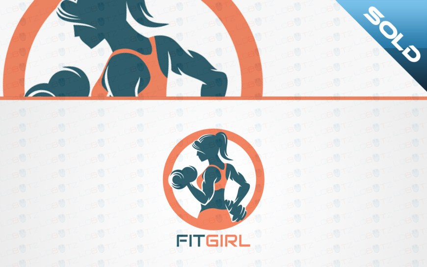 girl fitness logo for sale