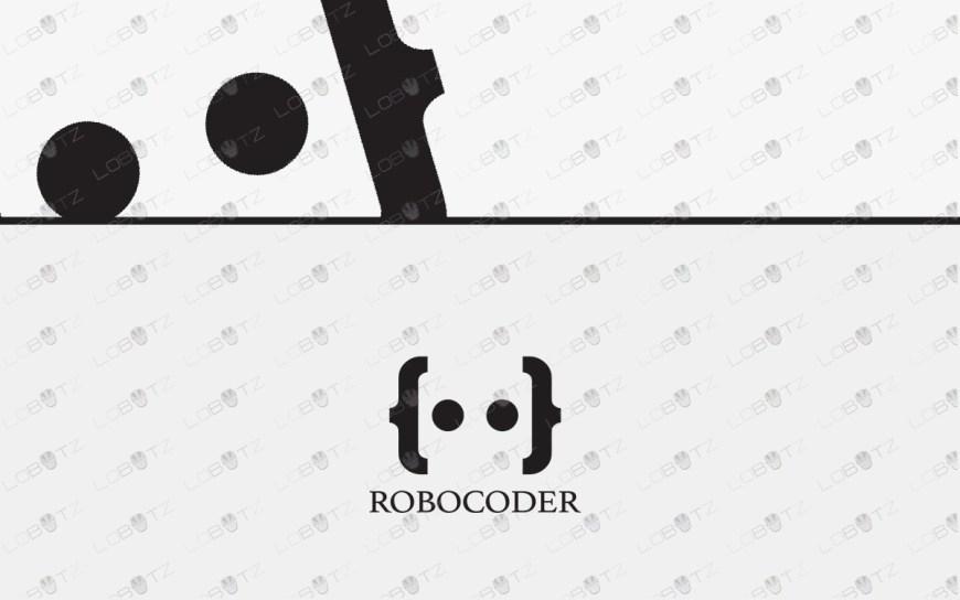 robot coder logo for sale