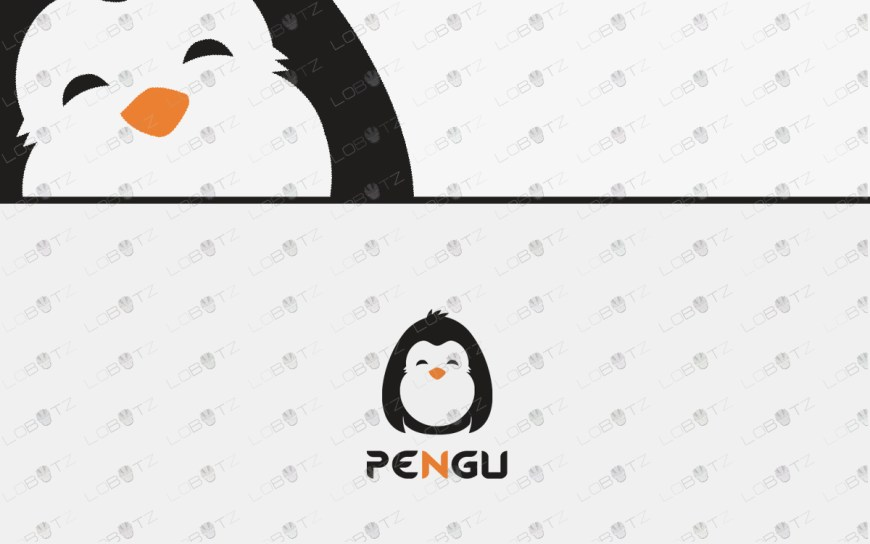 premade penguin logo for sale