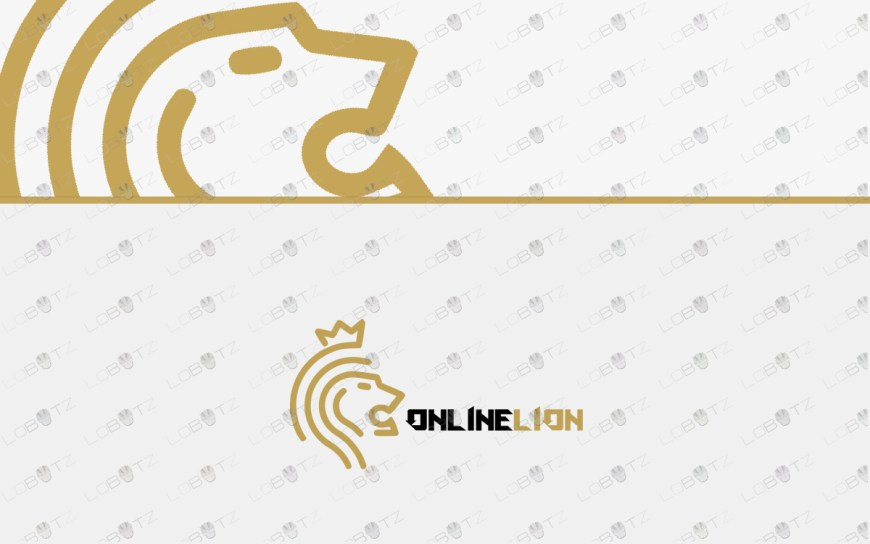 premade lion logo for sale