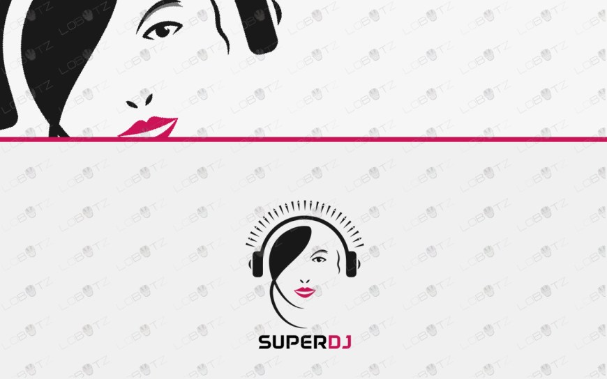 girl dj logo for sale