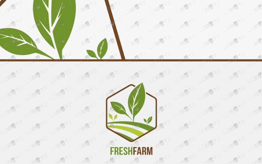 premade farm logo organic logo