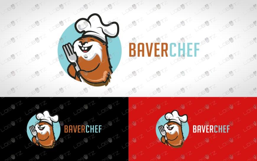 beaver chef logo beaver logo