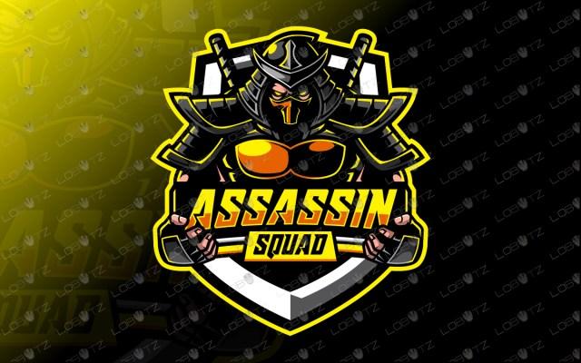 Assassin Squad Yellow assassin esports logo assassin mascot logo
