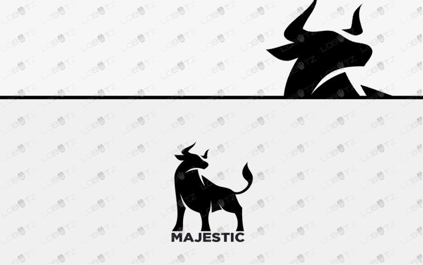 premade bull logo for sale strong logos