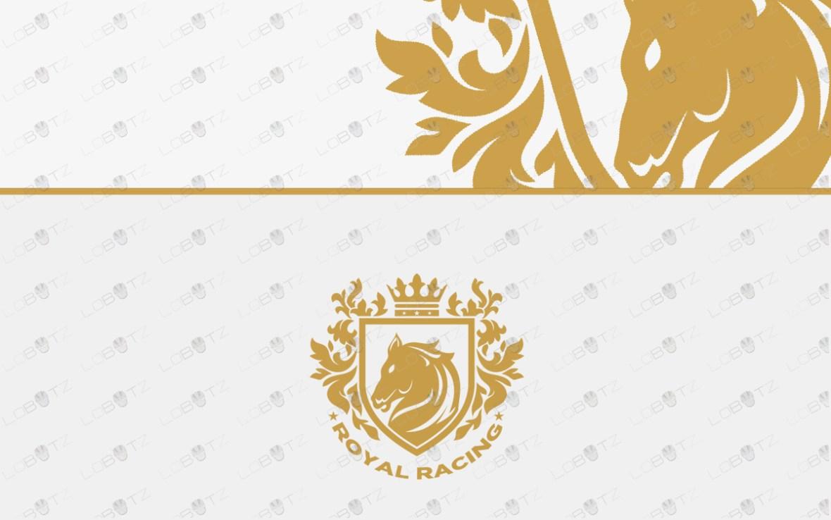 horse racing logo for sale premade logos
