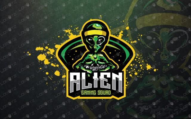 premade gamer alien mascot logo gamer alien esports logo
