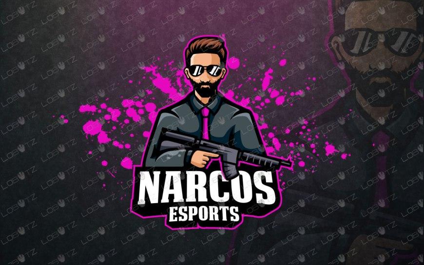 narcos esportslogo for sale mascot logo