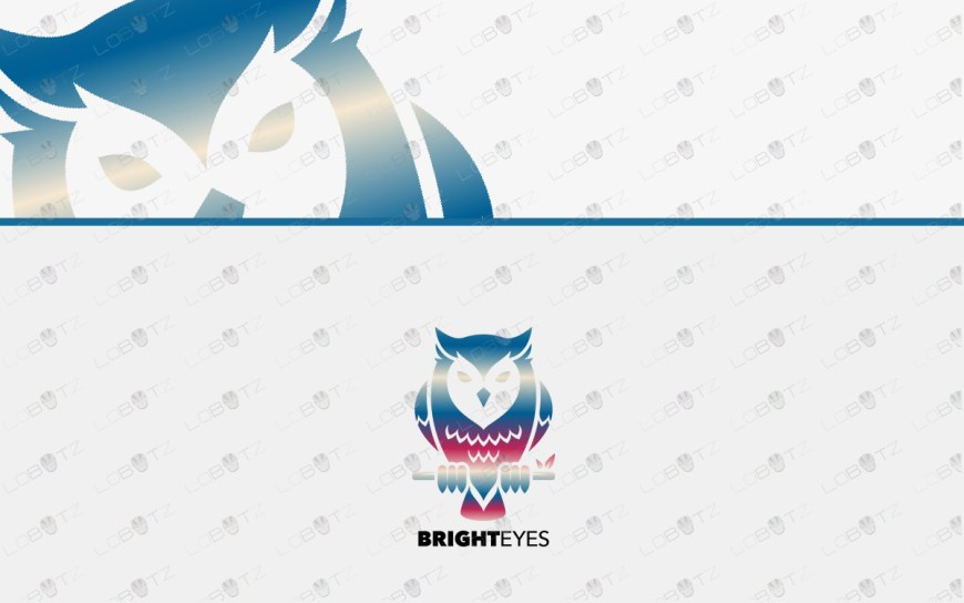 premium owl logo for sale premade