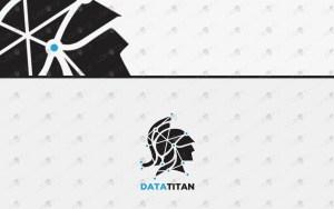 premade data titan logo spartan logo for sale
