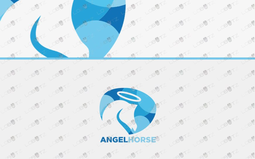 angel horse logo for sale