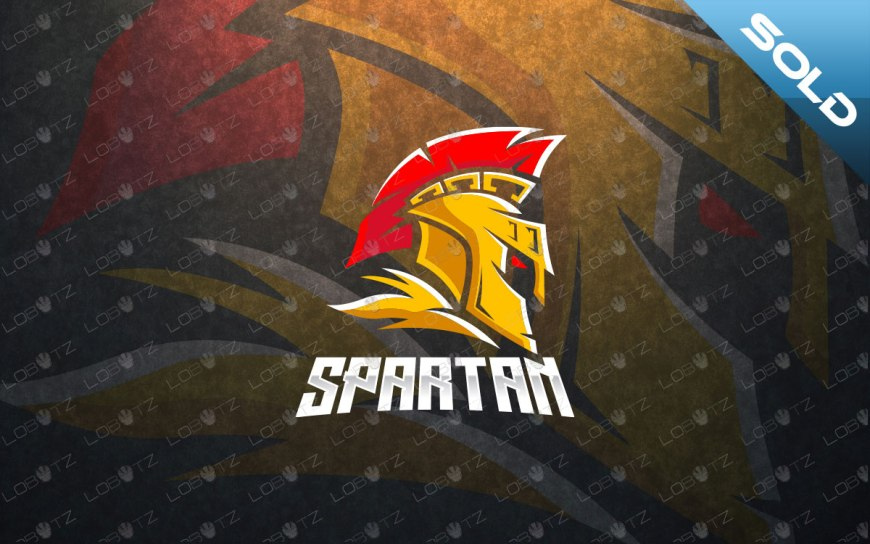 spartan head logo premade spartan logo