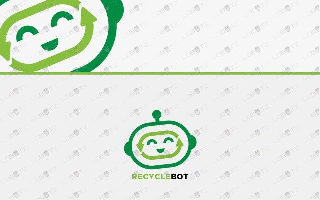 robot head logo for sale robot logo for business