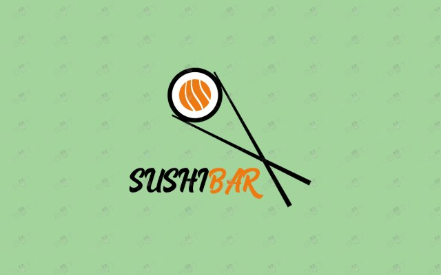 sushi logo for sale food logo for business