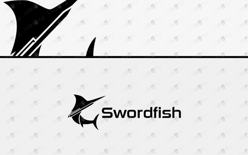 Fishing Logo For Sale Swordfish logo