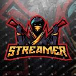 Streamer Ninja Mascot Logo | Ninja eSports Logo For Sale