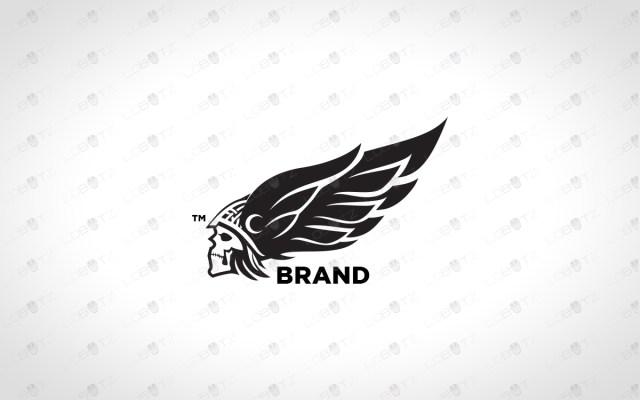 premade skull logo for sale