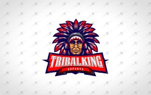 tribal chief gamer mascot logo gamer esports logo