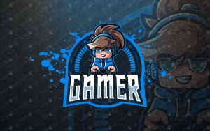 cute gamer logo cute gamer mascot logo
