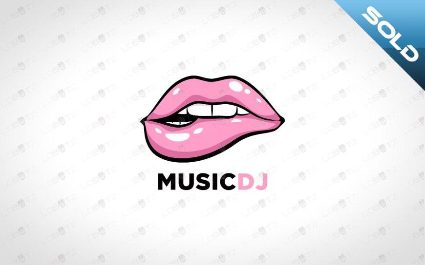 premade lips logo for sale music dj logo