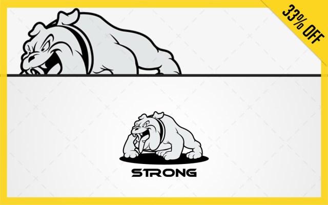 bull dog logo for sale