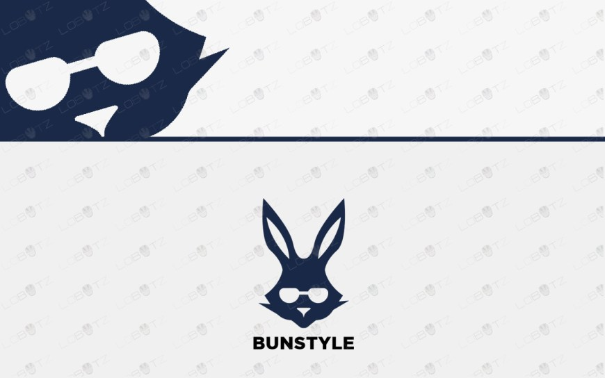 stylish bunny logo for sale rabbit logo for sale
