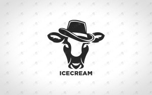 Stylish Cow Logo Premade Cow Logo For Sale