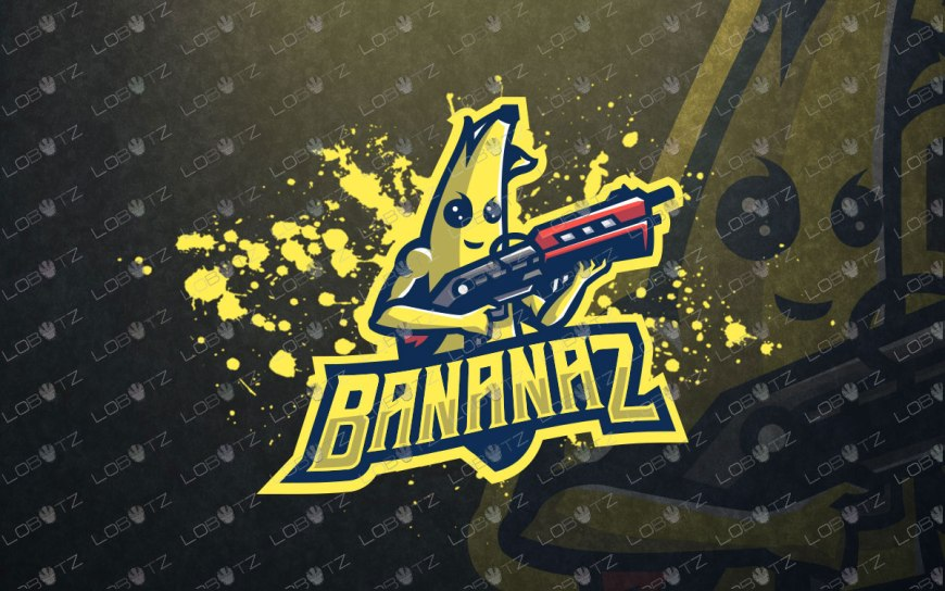 banana mascot logo for sale premade banana esports logo peely fortnite mascot logo