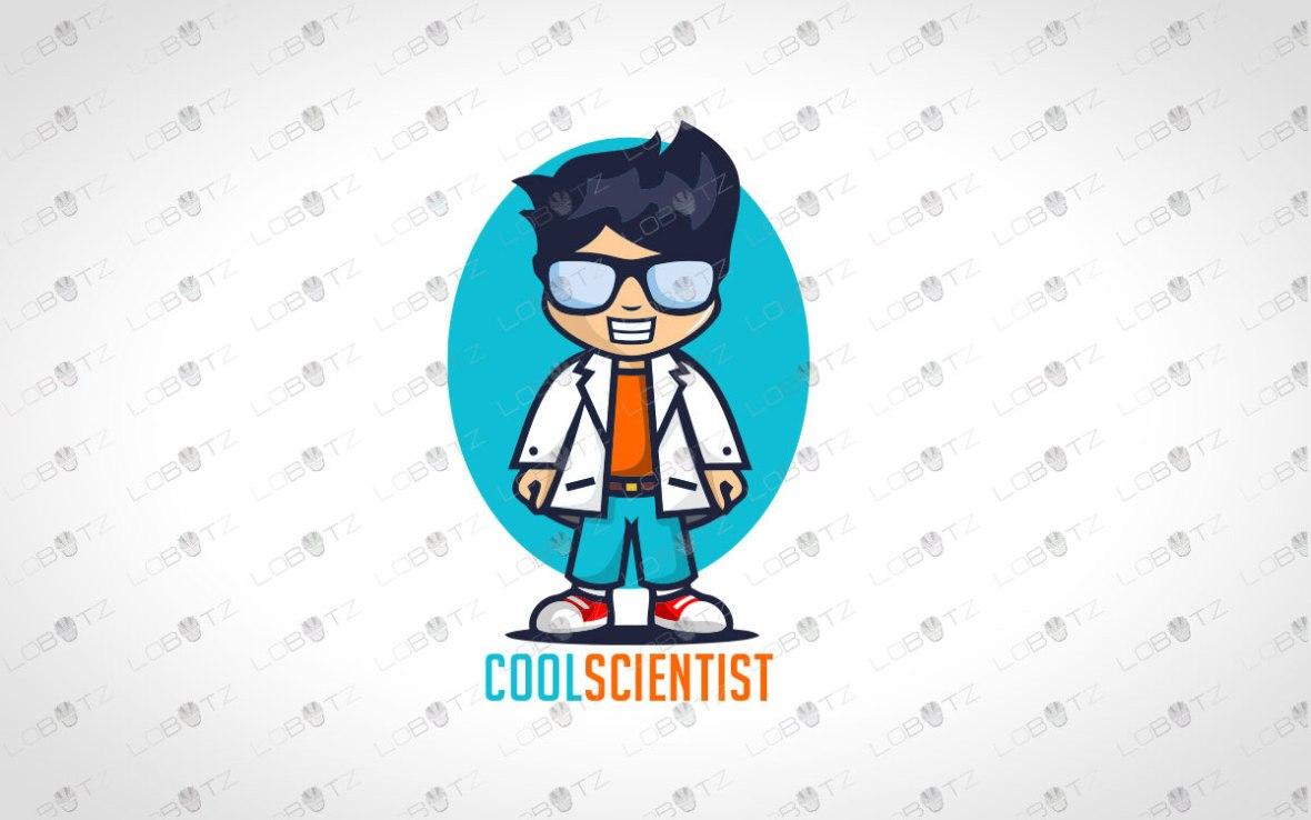 Scientist Logo For Sale   Modern Tech Logo