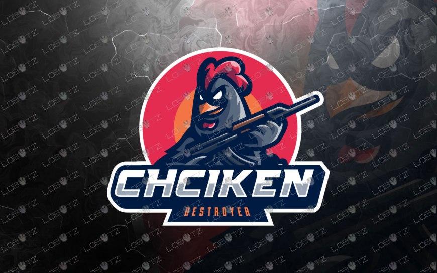 Chicken Mascot Logo For Sale | Chicken eSports Logo