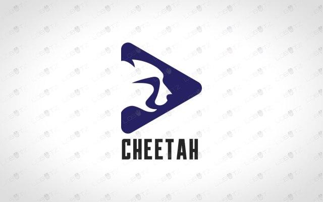 Minimalist Cheetah Logo for sale premade minimalist logos