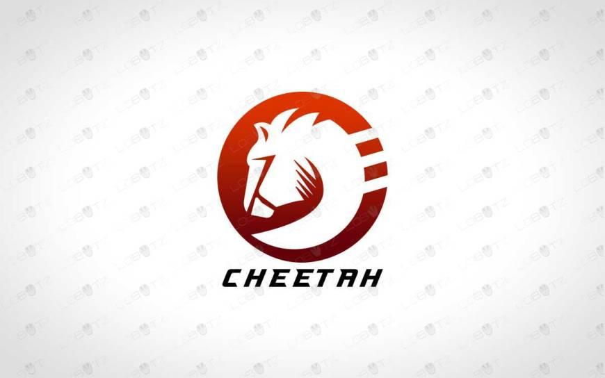 Minimalist cheetah logo for sale premade logo