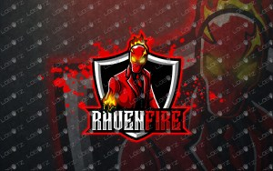 gaming mascot logo gaming esports logo for sale raven fire