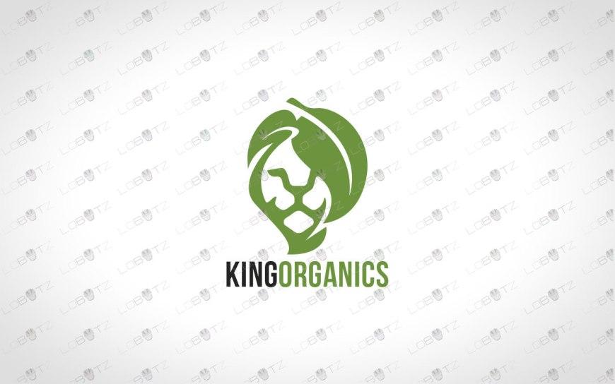 leaf lion logo for sale green lion logo premade logos