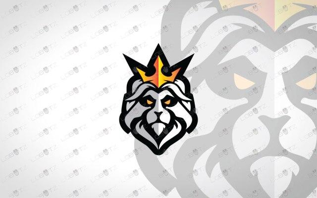 Minimalist Lion Logo Royal Lion Logo For Sale