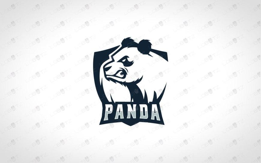 panda mascot logo panda esports logo