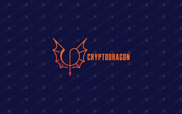 Crypto Currency Dragon Wings Logo For Sale crypto logo cuurency logo