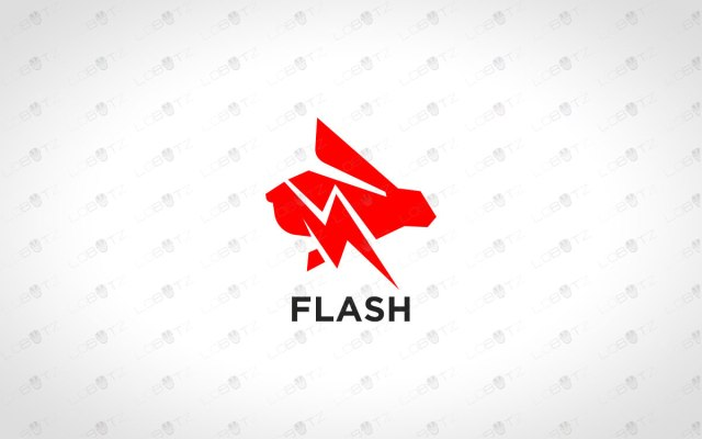 Fast Rabbit Logo For Sale Premade Speedy Rabbit Logo lightning rabbit logo