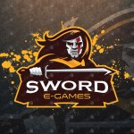 Sword Mascot Logo For Sale | Warrior Mascot Logo