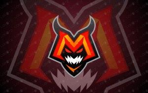 Letter M Monster Mascot Logo For Sale