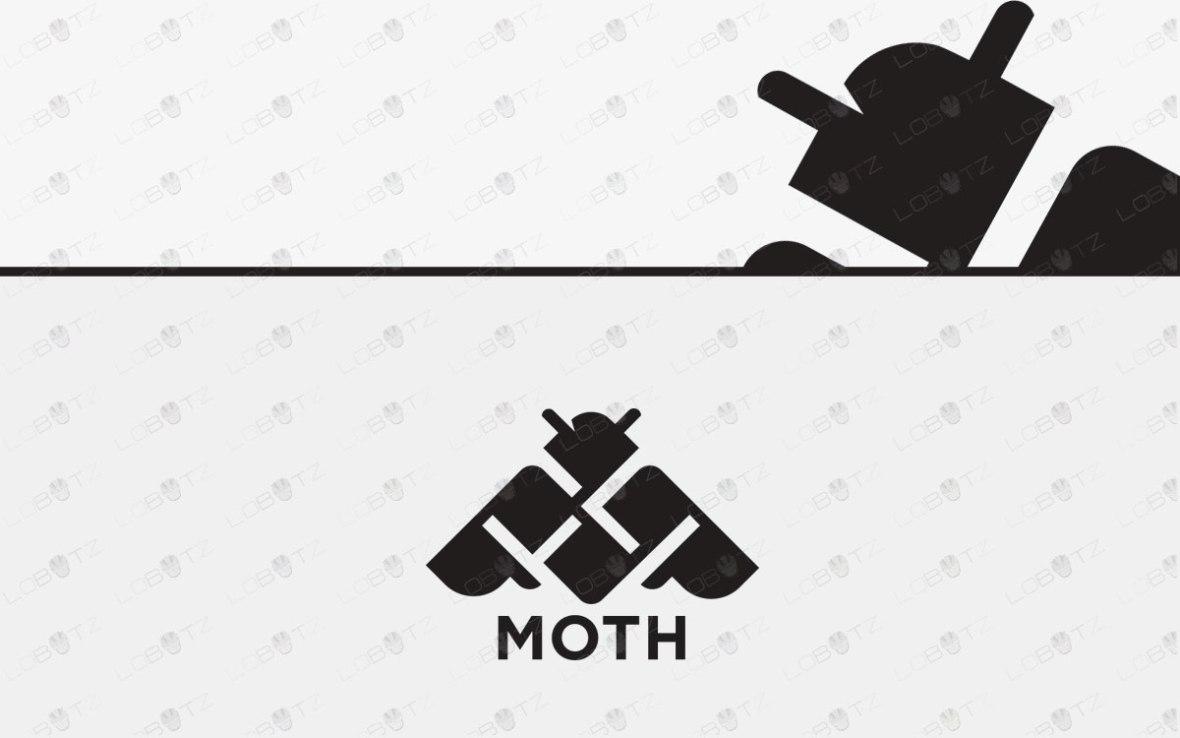 Modern Moth Logo For Sale   Premade Moth Logo